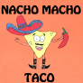 Nacho Macho Taco Logo
