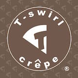 T Swirl Crepe Logo