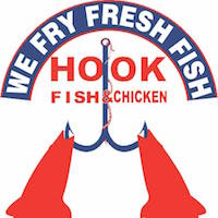 Hook Fish and Chicken Logo