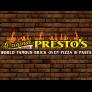 Presto's Pizza Logo
