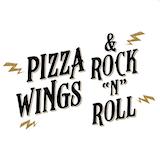Pizza, Wings & Rock & Roll Logo