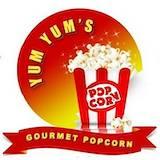 Yum Yums Gourmet Popcorn Logo
