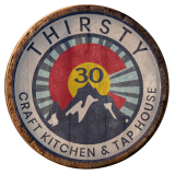 Thirsty 30 Craft Kitchen & Tap House Logo
