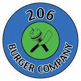 206 burger company Logo