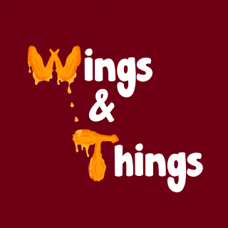 Aunt Rosella's Wings & Things Logo