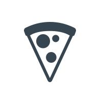 A Town Pizza Logo