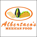 Albertacos Mexican Food (Orange) Logo