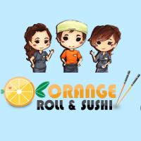 Orange Roll & Sushi (Orange) Logo
