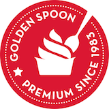 Golden spoon frozen yogurt Logo