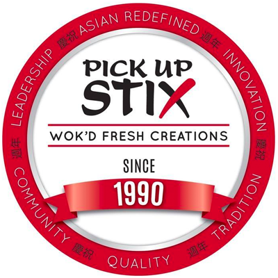 Pick Up Stix - Santa Ana Logo