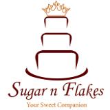 Sugar N Flakes Bakery Logo