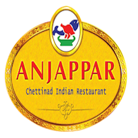 Anjappar Chettinad Restaurant Orange County Logo