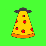 Mothership Pizza Logo