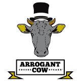 Arrogant Cow Cheese Steaks Logo