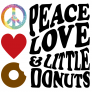 Peace Love and Little Donuts of Brentwood Logo