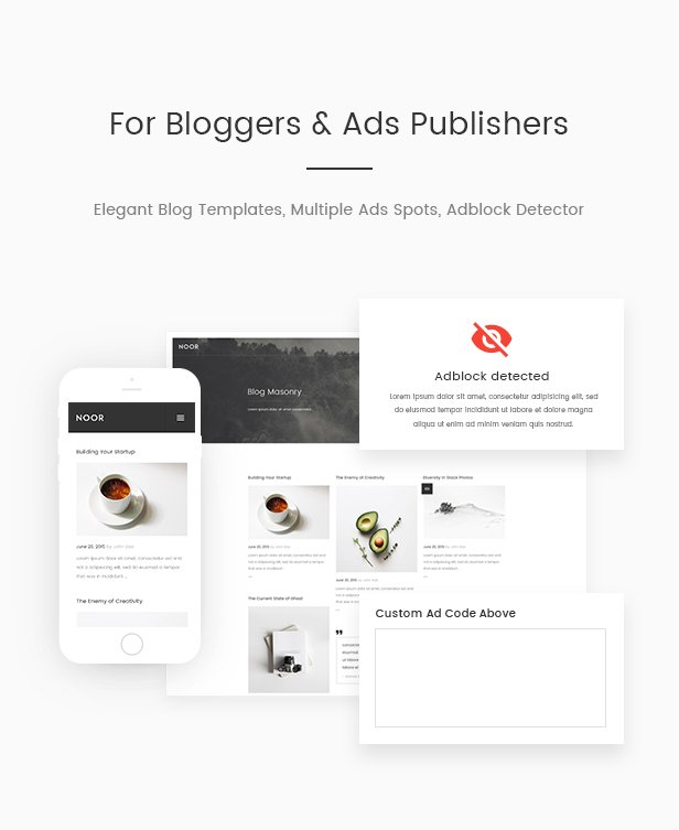 Noor Multi Purpose Fully Customizable Creative Amp Theme By