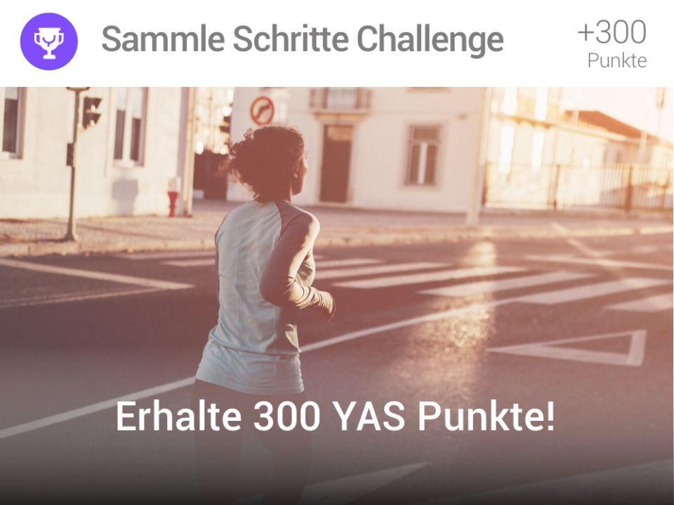Erhalte 300 YAS Punkte bei der Sammle-Schritte-Challenge im November in der YAS App