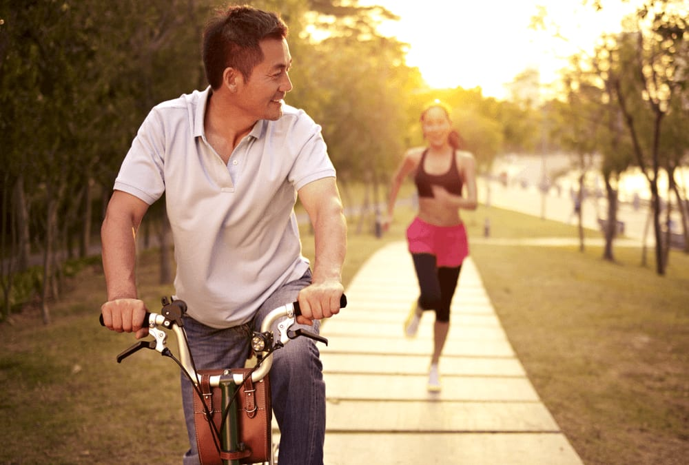 bauch abnehmen durch fahrradfahren
