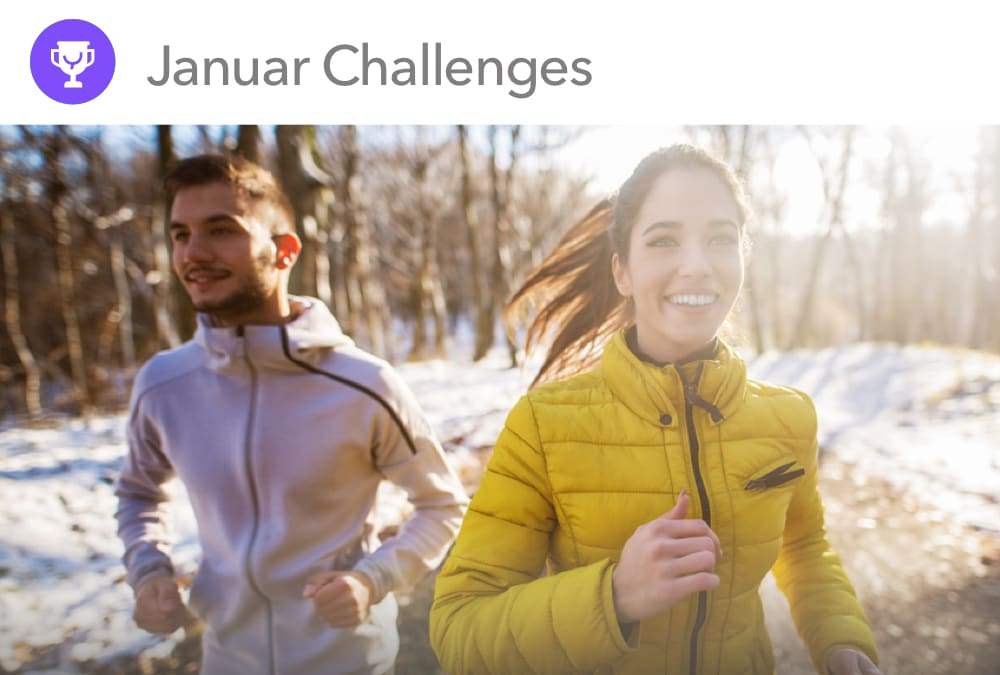 Januar Challenges bei YAS.life