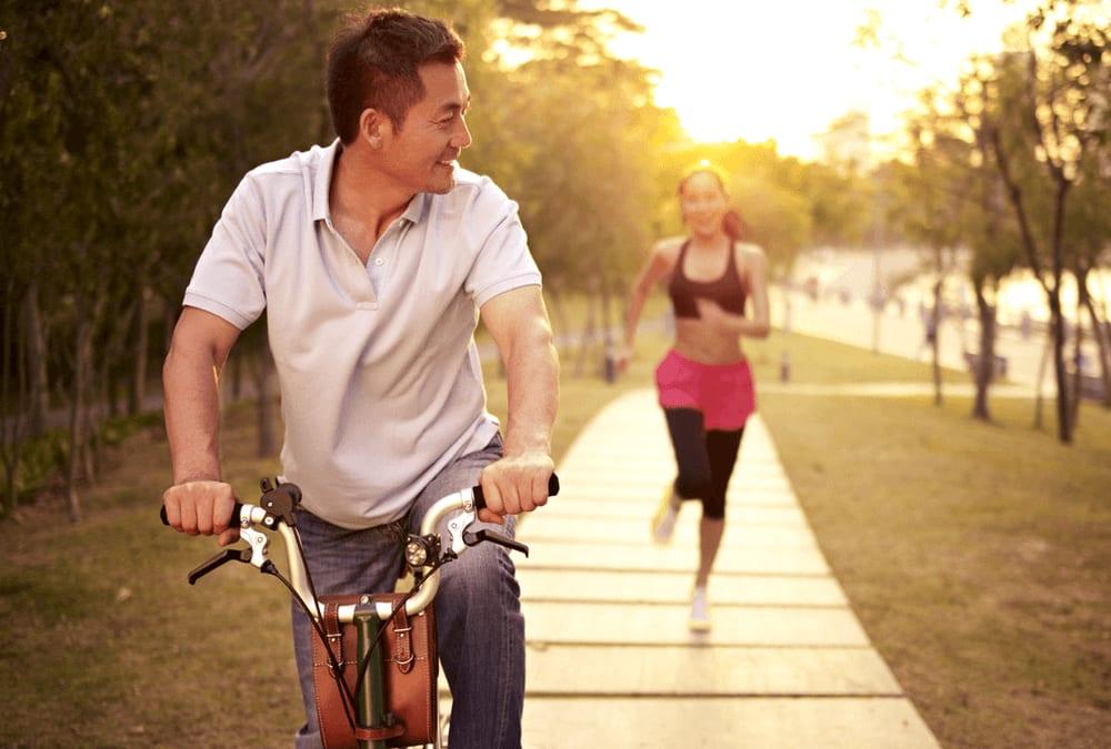 Radfahren vs. Laufen