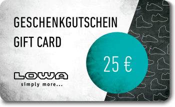 LOWA Geschenkkarte 25