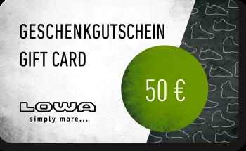 LOWA Geschenkkarte 50
