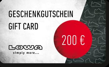 LOWA Geschenkkarte 200