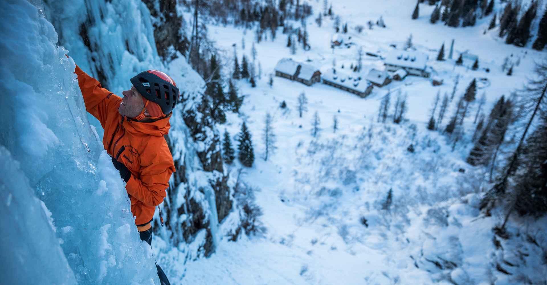 Eisklettern Markierung Produktbilder Rauris Robert Jasper Shooting Sonnblick lowa
