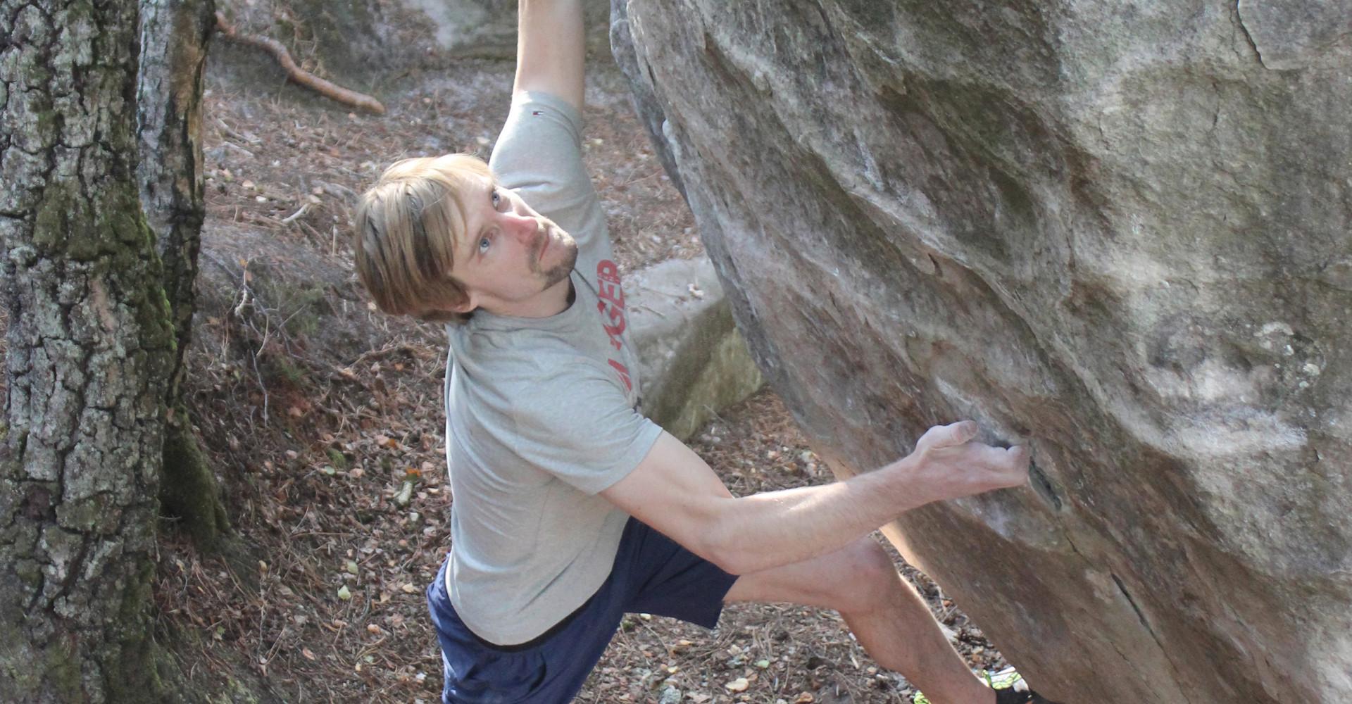Imagefoto mit dem ROCKET, Julius Westphal Fontainebleau Bouldern