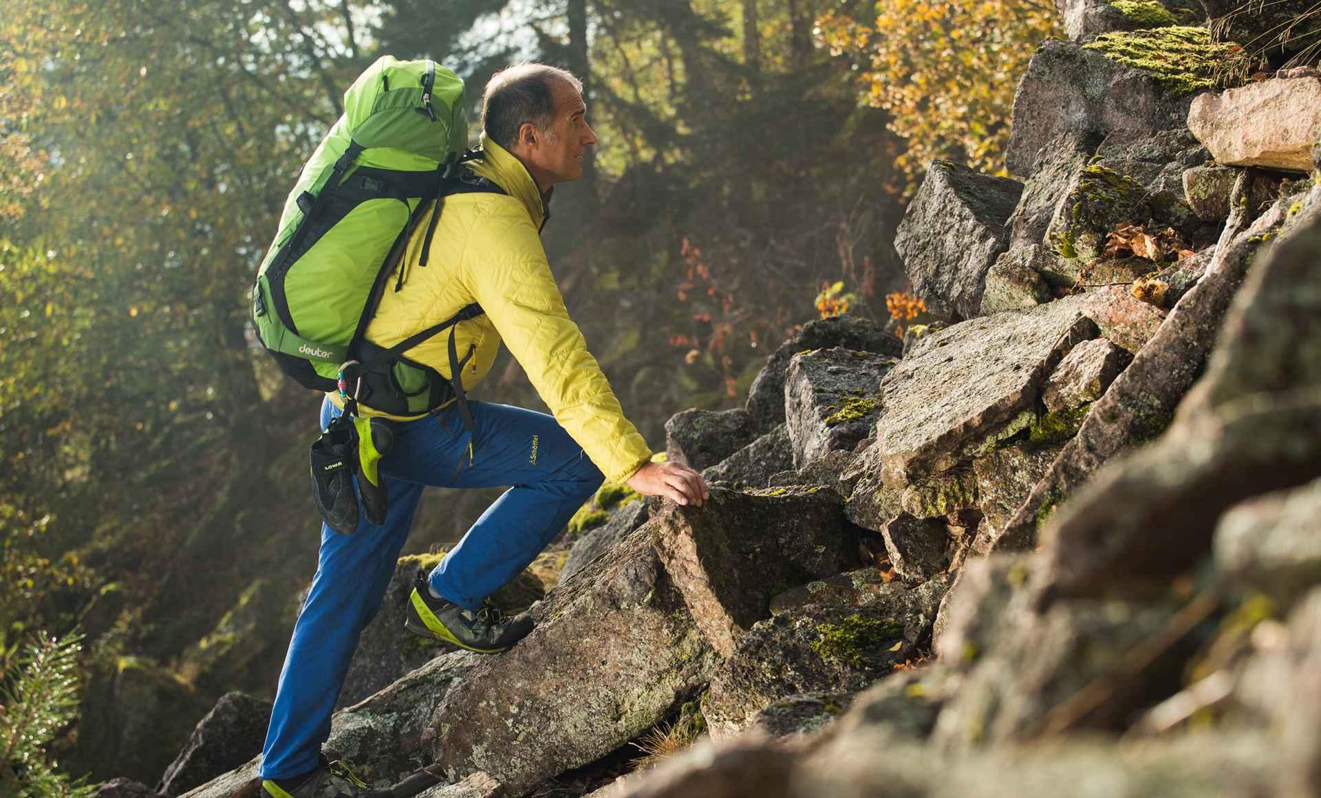 Ralf Dujmovits op weg naar de top.