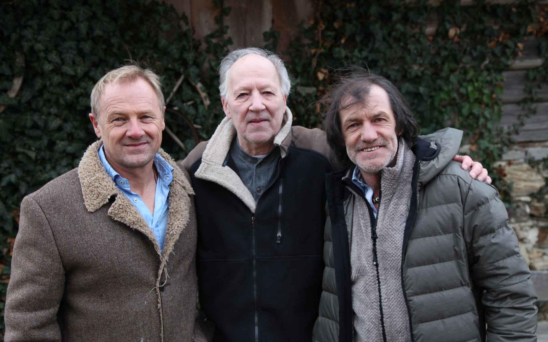 Regisseur Gerald Salmina met Werner Herzog en Hans Kammerlander.