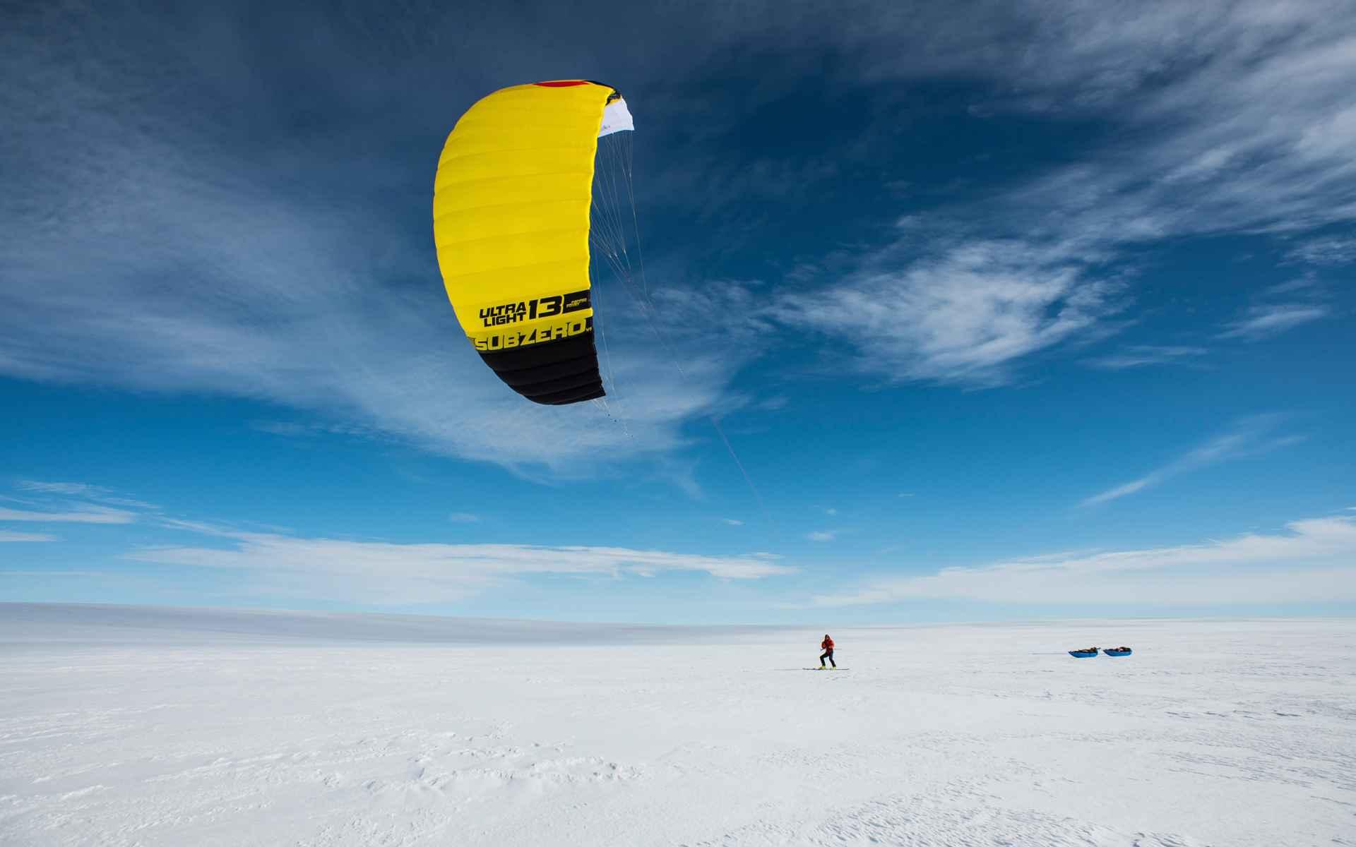 Ohne Kites wäre die Expedition kaum zu schaffen gewesen