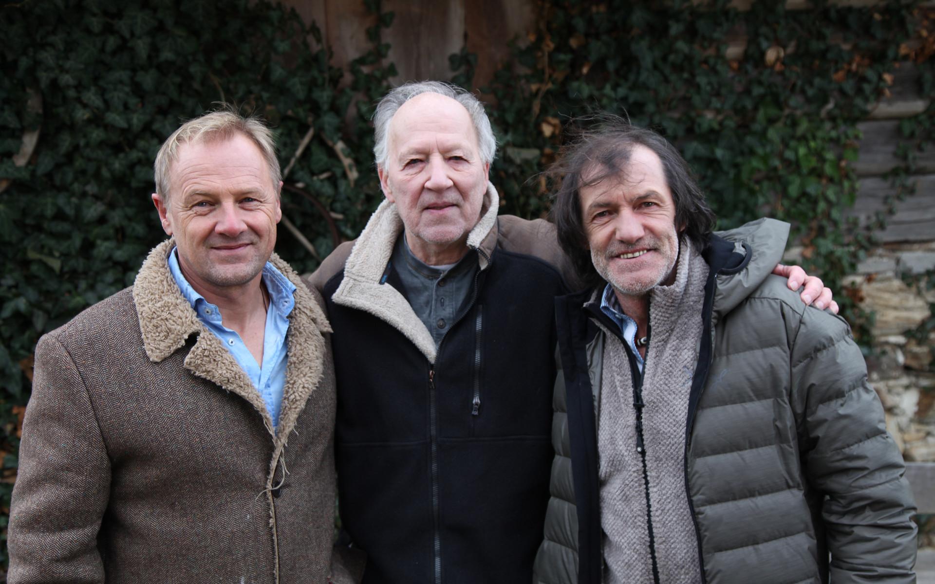 Regisseur Gerald Salmina mit Werner Herzog und Hans Kammerlander