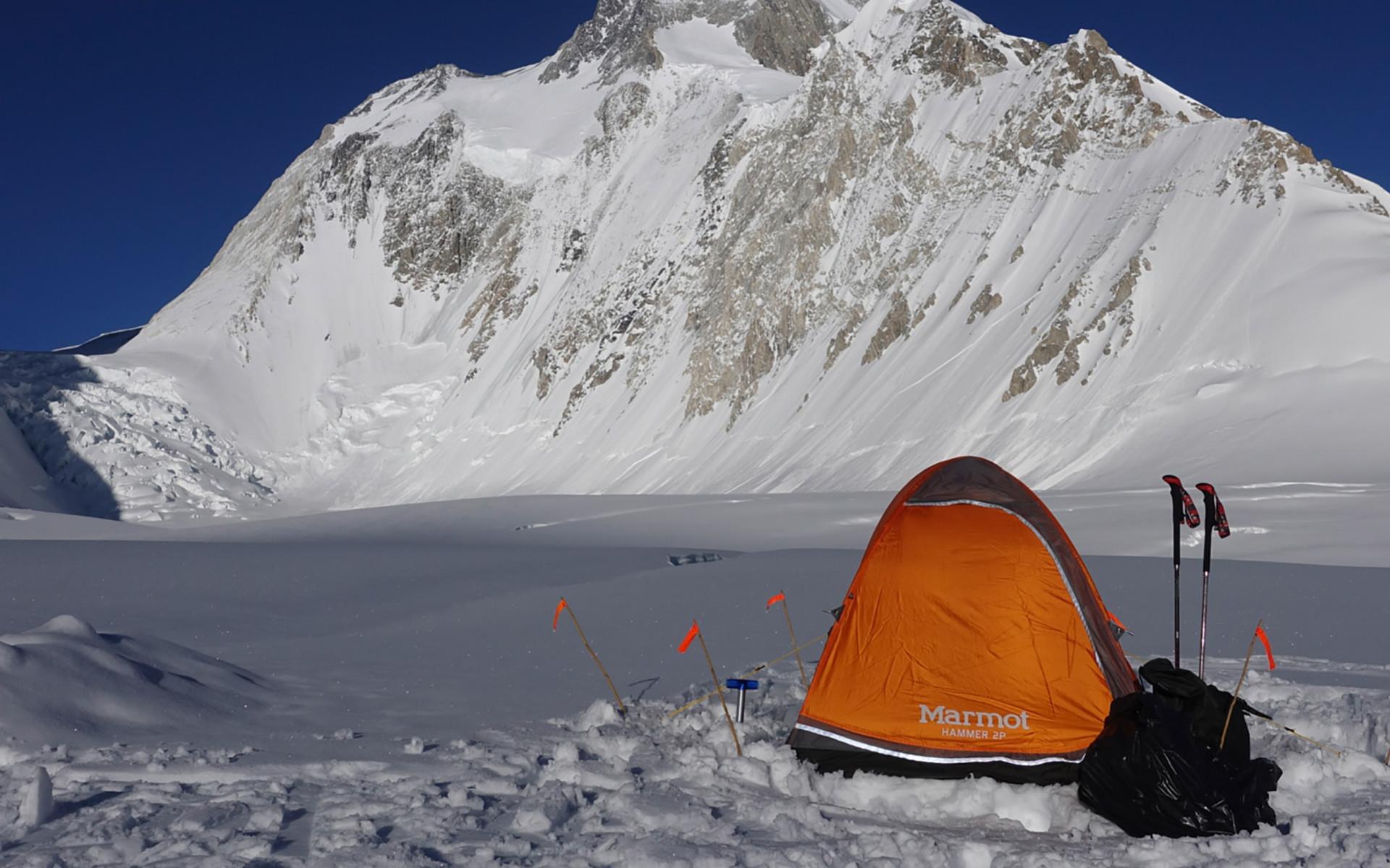 Il campo base di Gasherbrum I