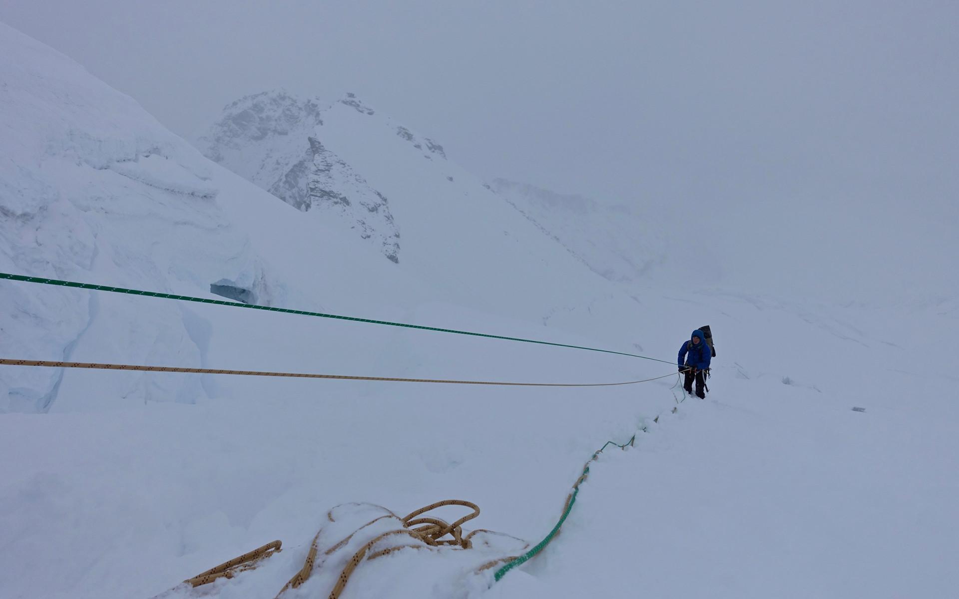 Schwierige Bedingungen am Berg