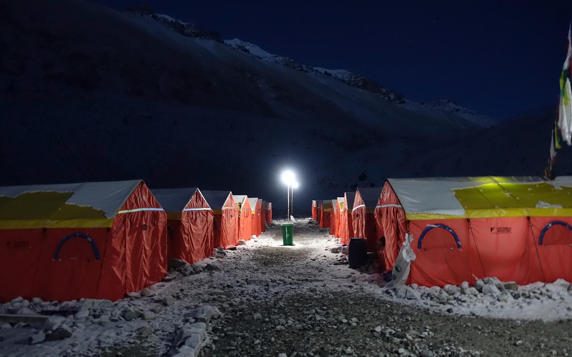 Übernachtung im Base Camp