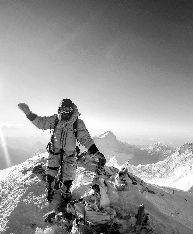 Luis Stitzinger au sommet du mont Everest