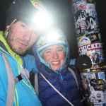 Um 10 Uhr abends endlich am Gipfel.