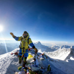 Luis Stitzinger at the top of Mount Everest