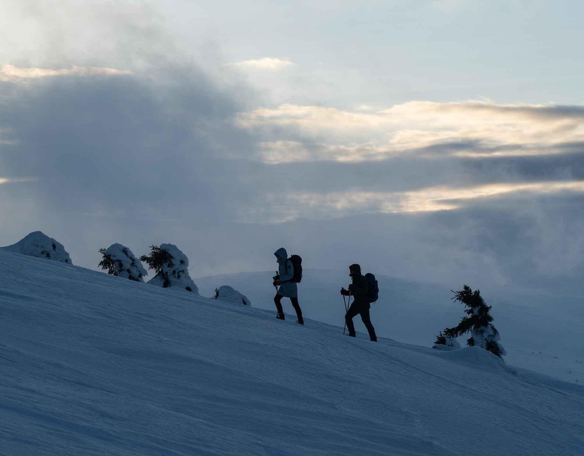 Schneeschuhtour Brunnenberg, Riesengebirge, Tschechien.