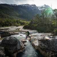 Kletter-Expedition im Nördlichen Patagonischen Inlandeisfeld mit den Bergführern Jörn Heller, Andreas Thomann und Robert Jasper, auf den Nef Gletscher, Erkundung der Zustiege und die zweite Besteigung vom Cerro Largo 2705 m, Basislager im Vall de Soler, Lago Plomo, Puerto Bertrand, Patagonien, Chile.