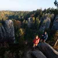 Wanderszene,  , Cesky Raj, Tschechien.