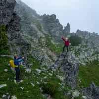 Predne Solisko, Wanderszene, Hohe Tatra, Slowakei.