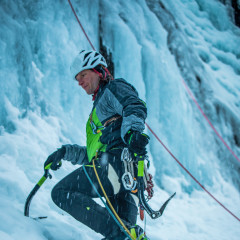 Image photo with the ALPINE ICE GTX®, Eiskletterevent Kom Saigurn