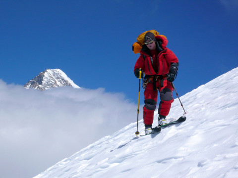 8.000er-Skibefahrung (Luis Stitzinger hier am Broad Peak)