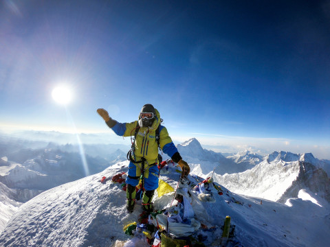 Luis Stitzinger in cima al Monte Everest