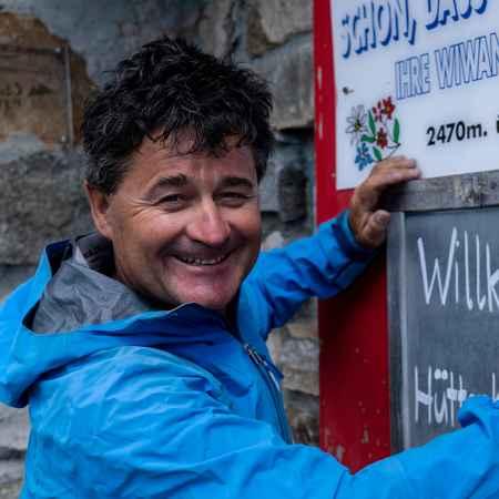 Egon Feller Oester, Wiwanni Huette, Walliser Alpen, Schweiz,