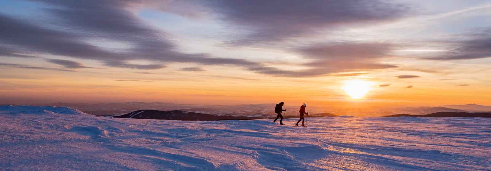 Schneeschuhtour Hochwiesenberg, Riesengebirge, Tschechien.