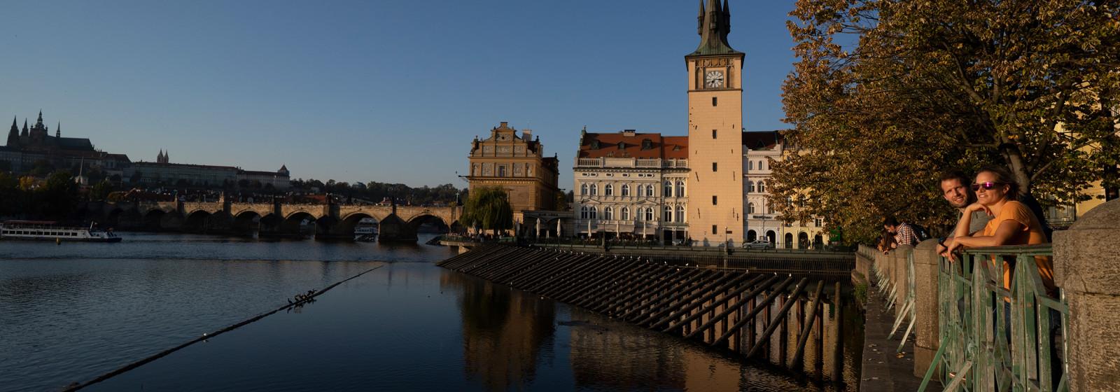Reiseszene Prag, Tschechien.