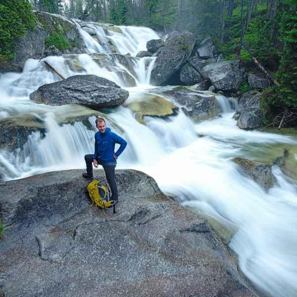 Studeny Potok, Flusslauf, Wanderszene, Hohe Tatra, Slowakei.